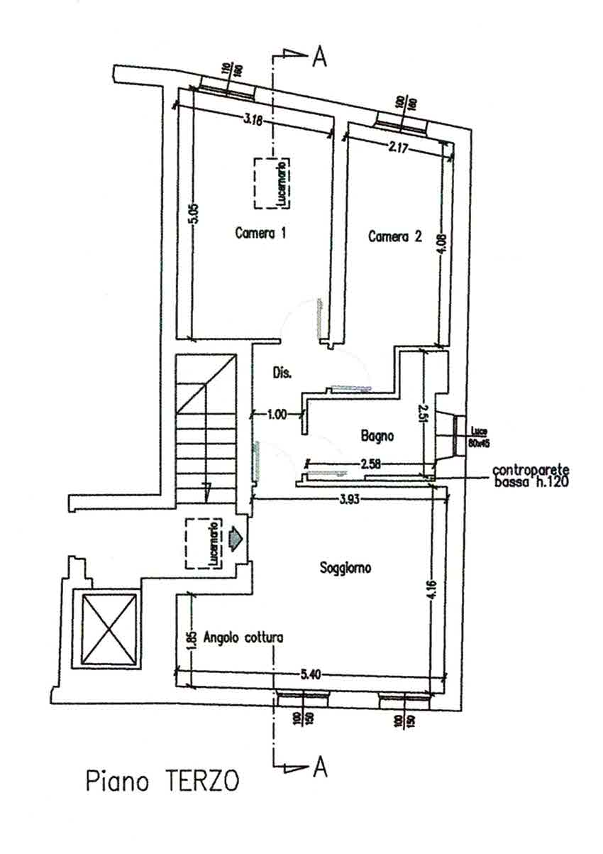 Planimetria 4/4 per rif. 3022
