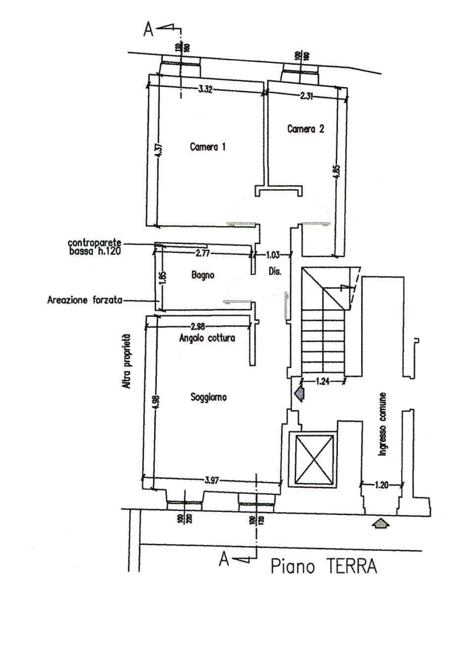 Planimetria 2/4 per rif. 3022