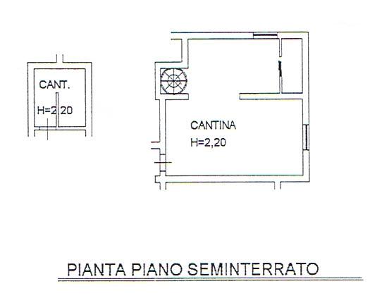 Planimetria 2/2 per rif. 2598