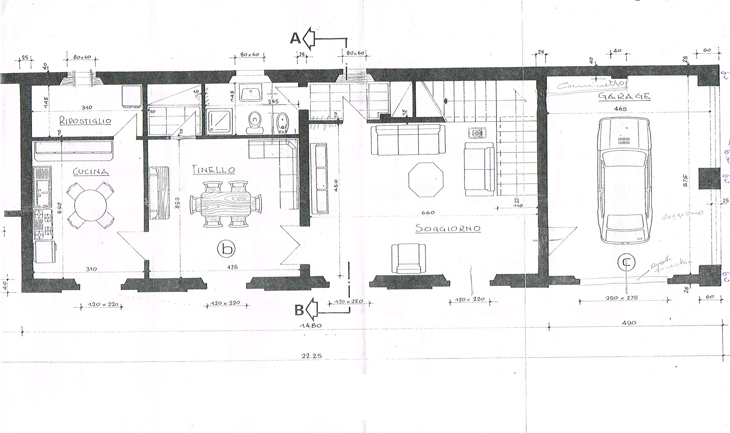 Planimetria 1/2 per rif. 2229