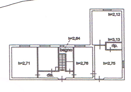Planimetria 2/2 per rif. 2614