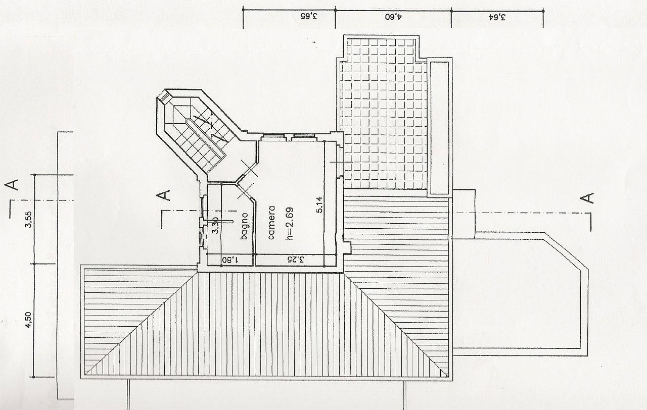 Planimetria 2/3 per rif. 2493