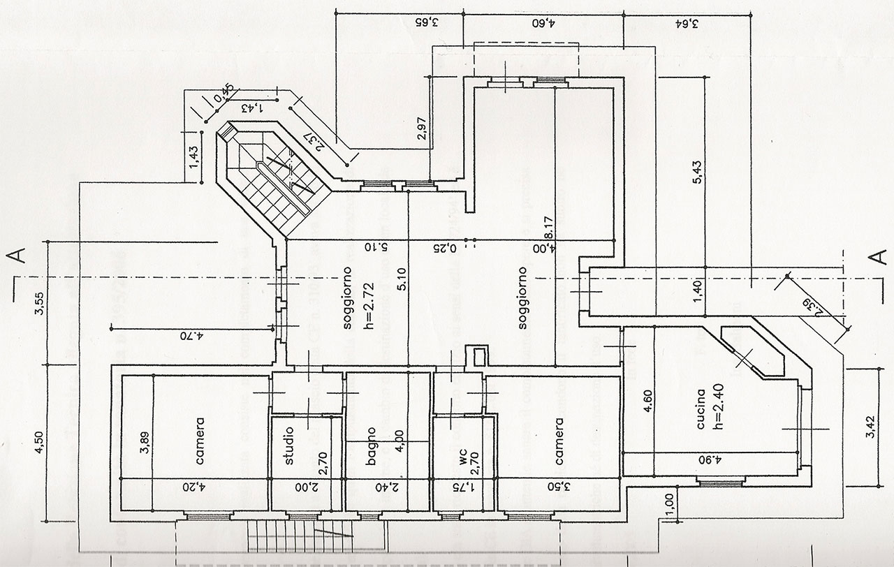Planimetria 1/3 per rif. 2493