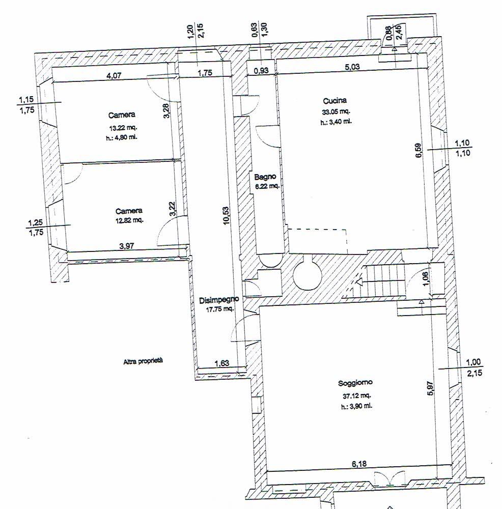 Planimetria 1/2 per rif. 2648