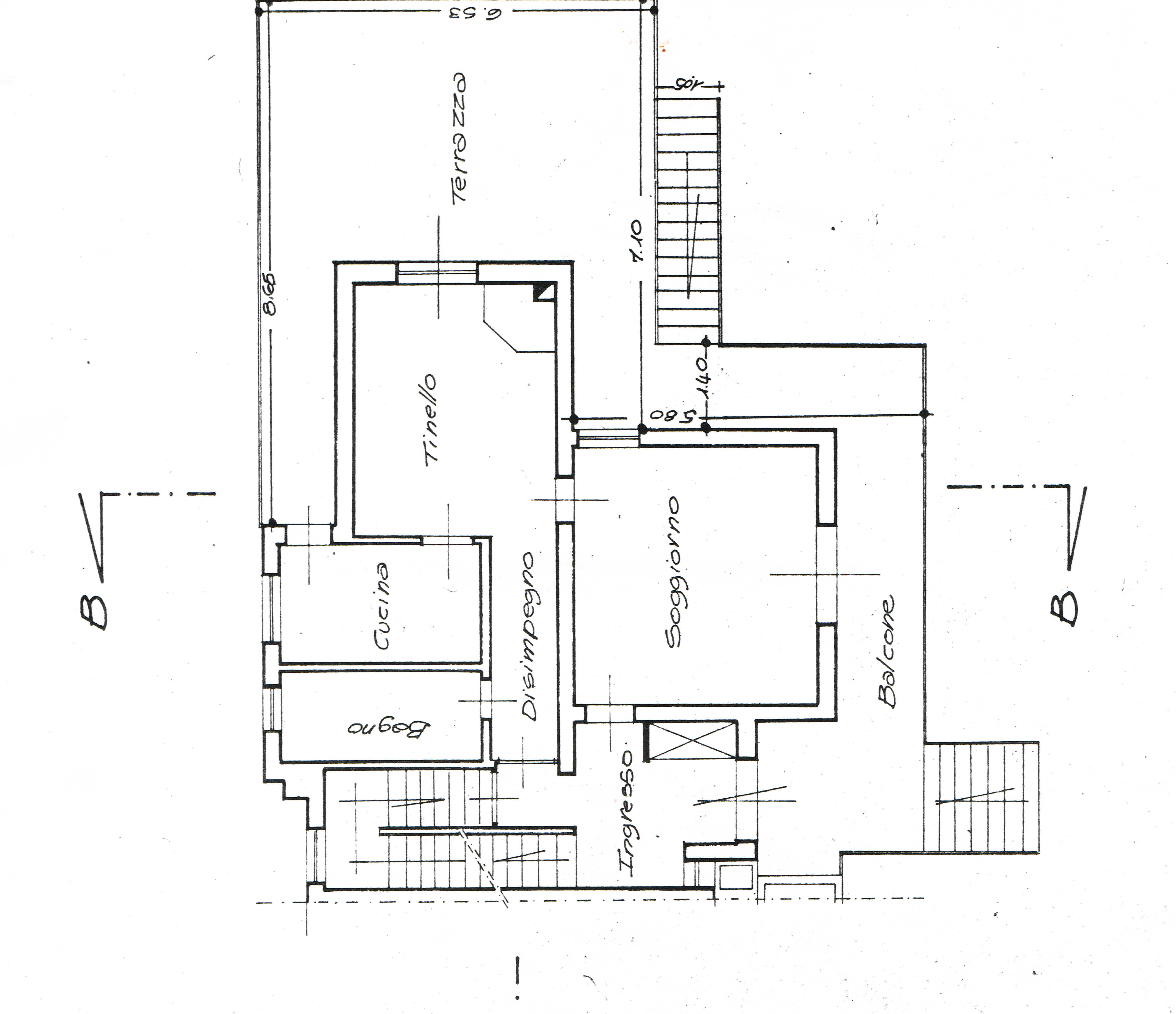 Planimetria 1/3 per rif. 2671