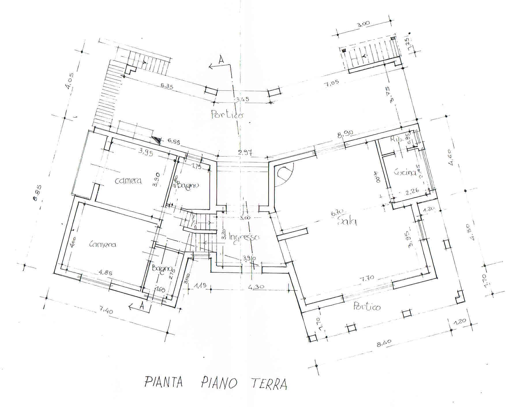 Planimetria 1/3 per rif. 2685