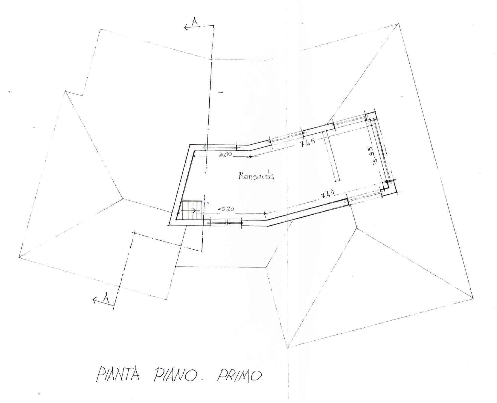 Planimetria 2/3 per rif. 2685