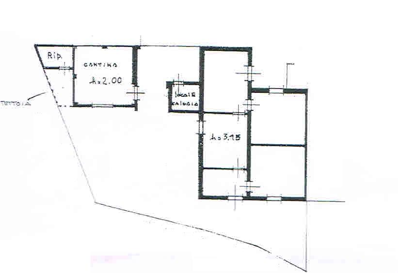 Planimetria 1/3 per rif. 2694