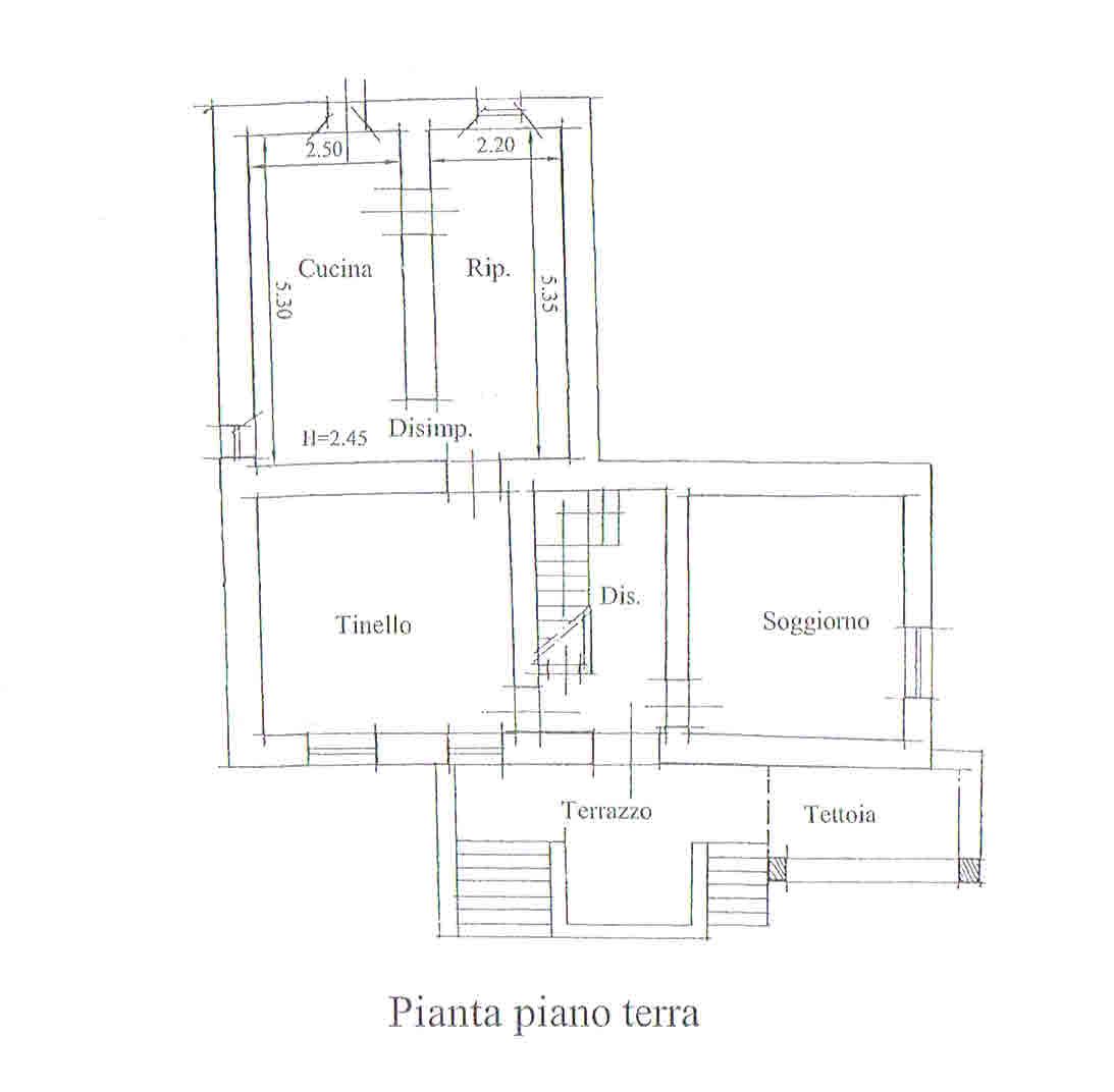 Planimetria 1/3 per rif. 2707