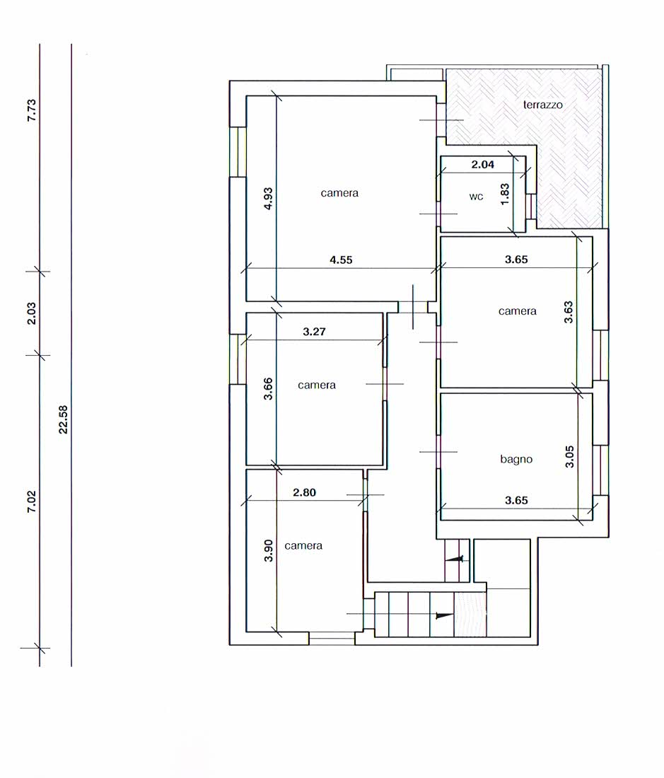 Planimetria 2/3 per rif. 2283