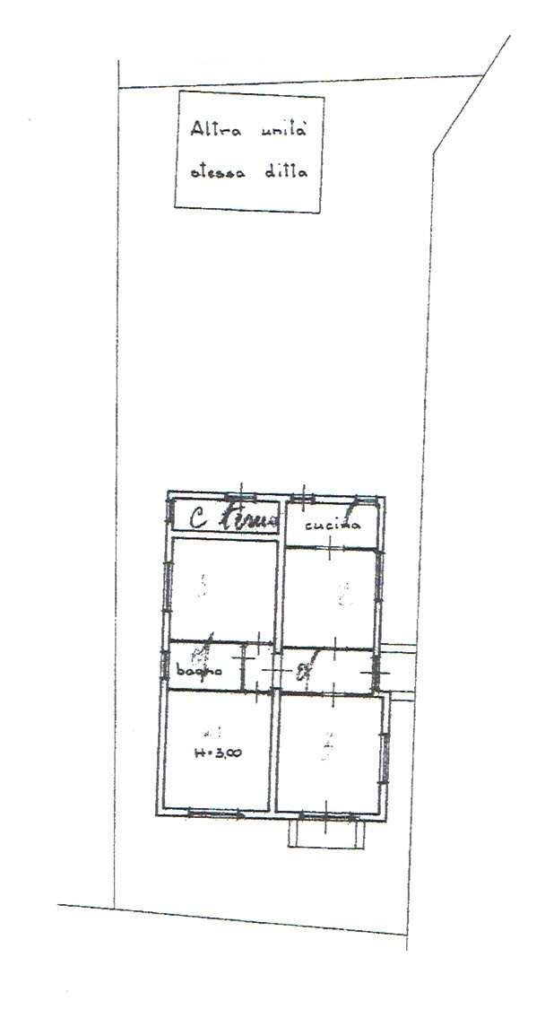 Planimetria 1/3 per rif. 2717