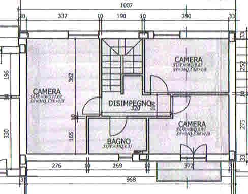 Planimetria 2/2 per rif. 2722