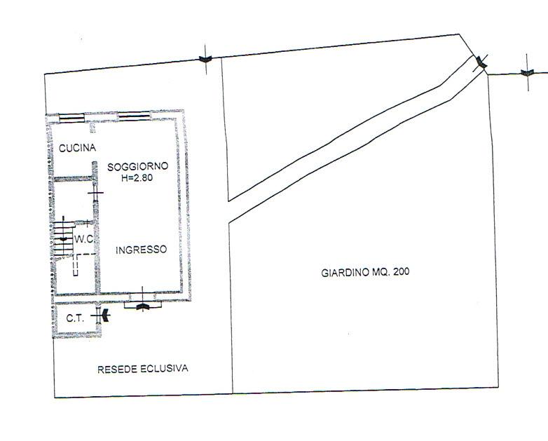 Planimetria 1/3 per rif. 2730