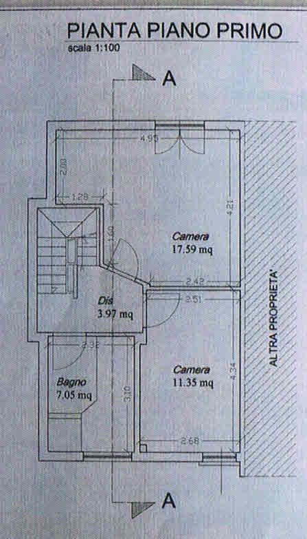 Planimetria 2/3 per rif. 2755