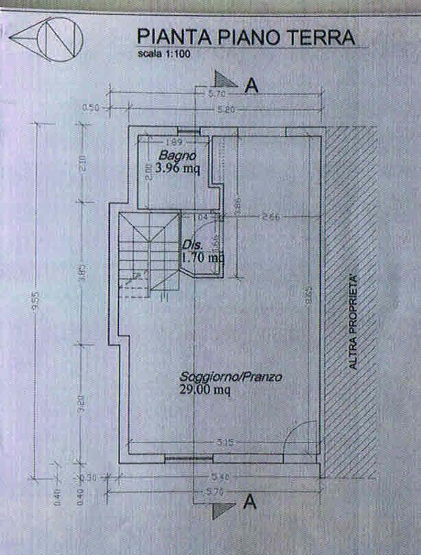 Planimetria 1/3 per rif. 2755