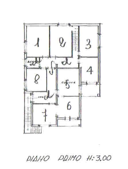 Planimetria 2/3 per rif. 2757