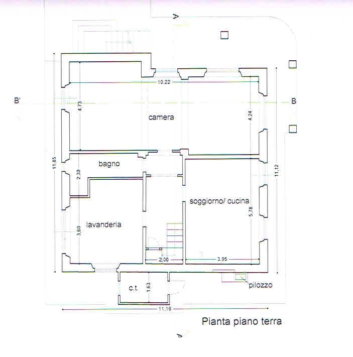 Planimetria 1/2 per rif. 2771
