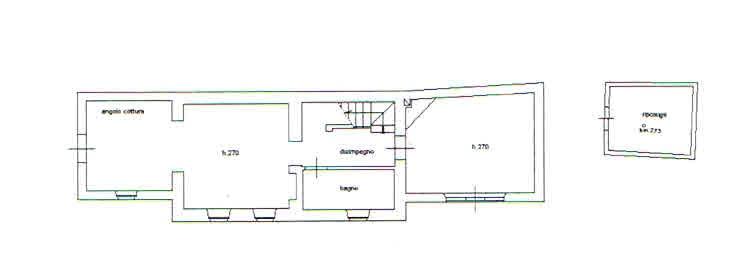 Planimetria 1/2 per rif. 2772