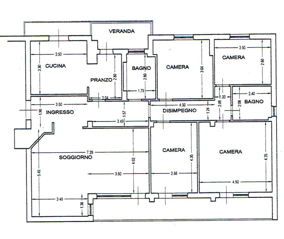 Planimetria 1/1 per rif. 2784