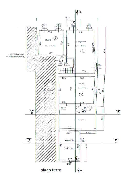 Planimetria 1/2 per rif. 2792