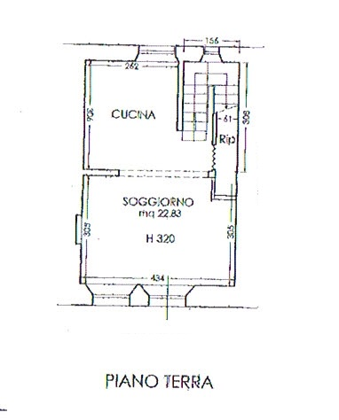 Planimetria 1/3 per rif. 2808