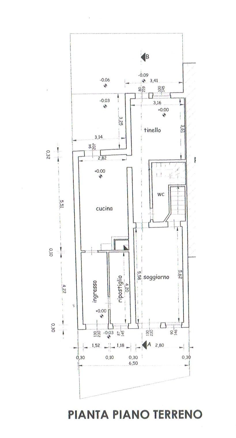 Planimetria 1/2 per rif. 2806