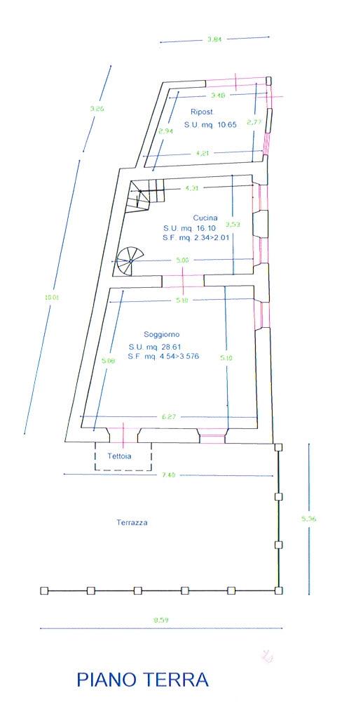 Planimetria 1/3 per rif. 2811