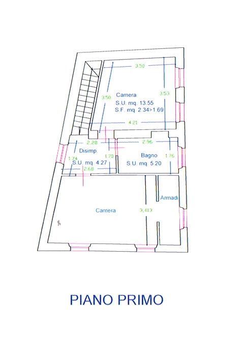 Planimetria 2/3 per rif. 2811