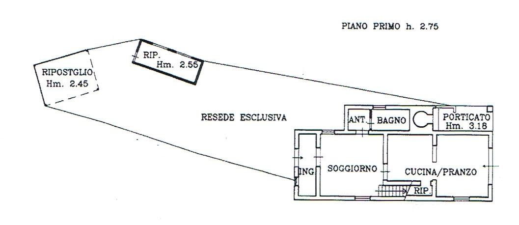 Planimetria 1/2 per rif. 2819
