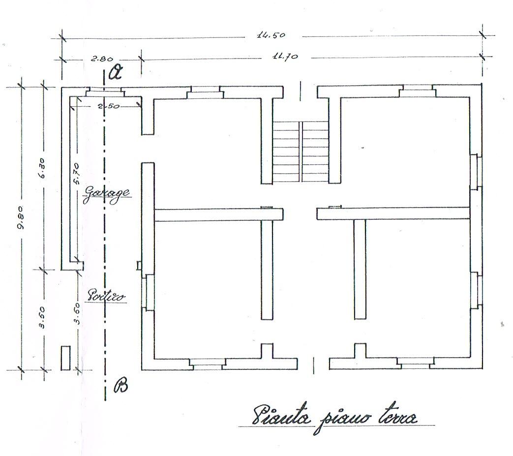 Planimetria 1/2 per rif. 2824