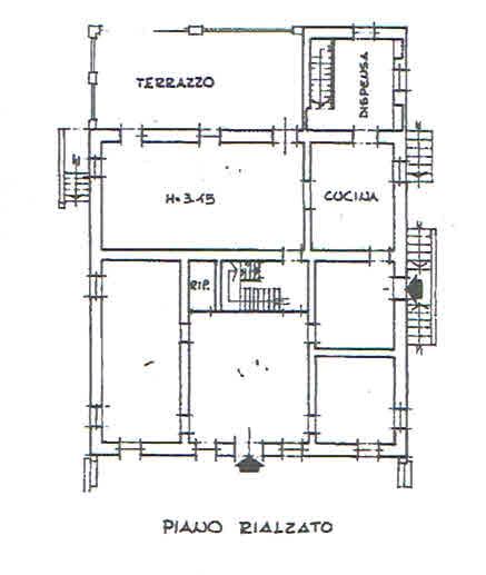 Planimetria 1/4 per rif. 2836