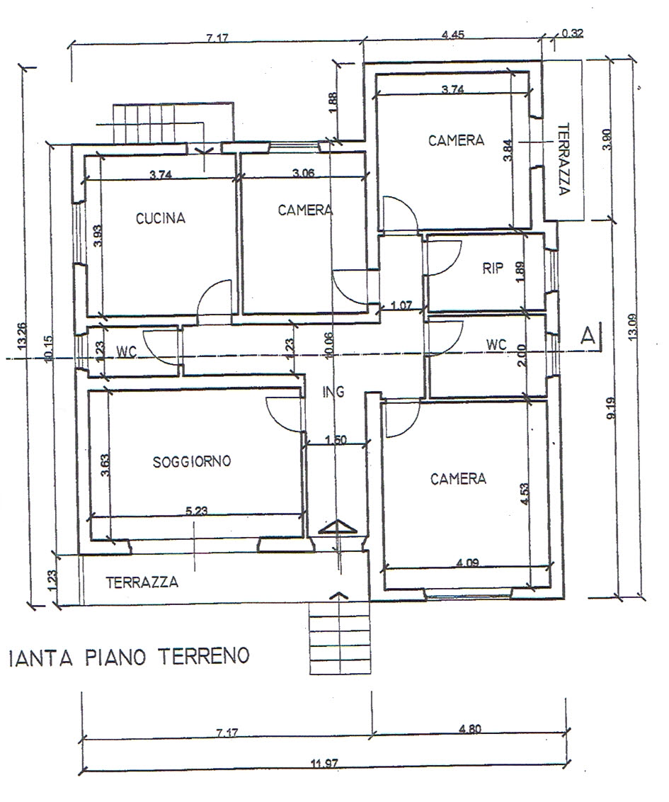 Planimetria 1/2 per rif. 2856