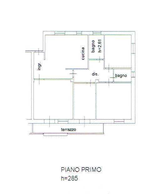 Planimetria 2/2 per rif. 2862