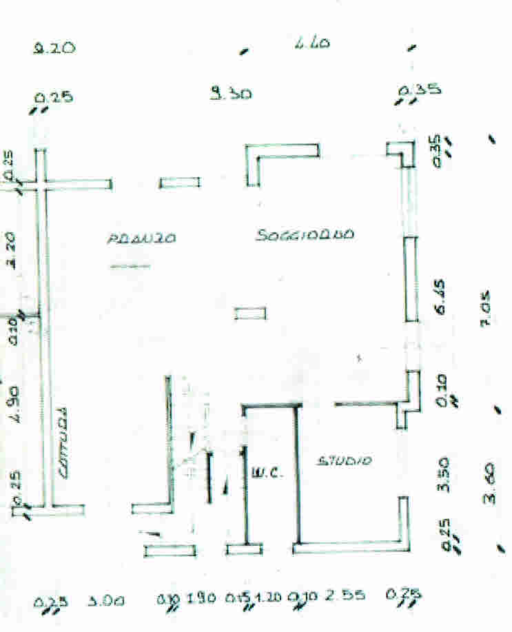 Planimetria 1/3 per rif. 2863