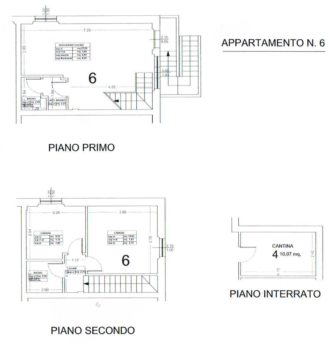 Planimetria 4/5 per rif. 2864