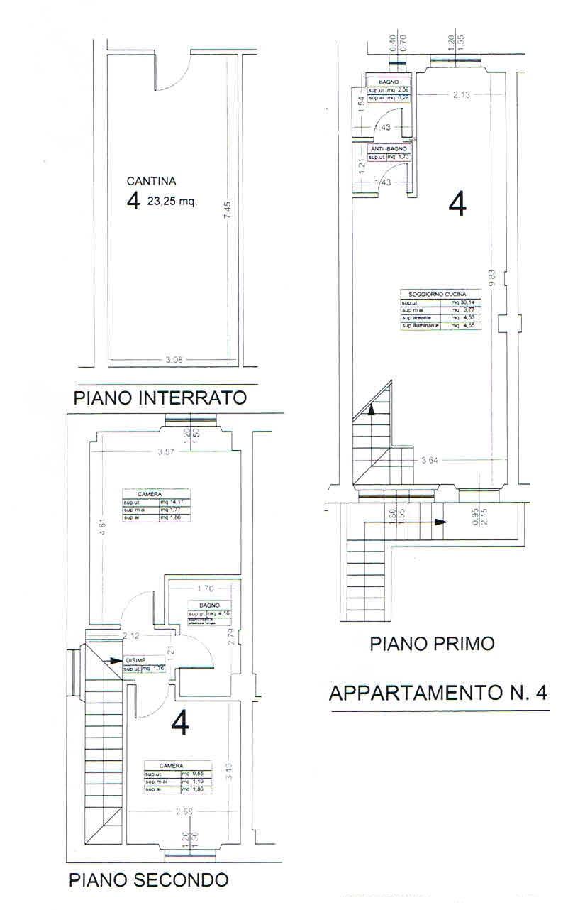 Planimetria 2/5 per rif. 2864