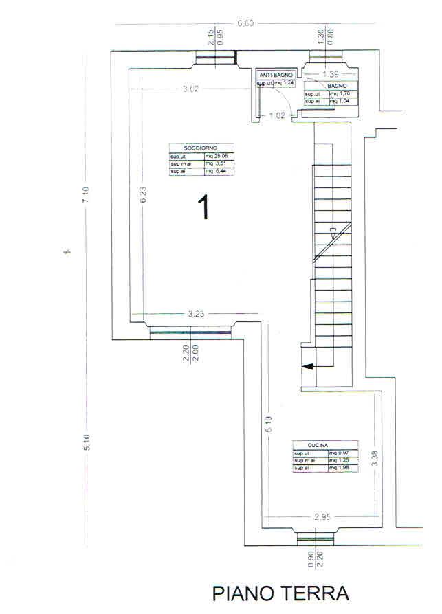 Planimetria 1/2 per rif. 2865