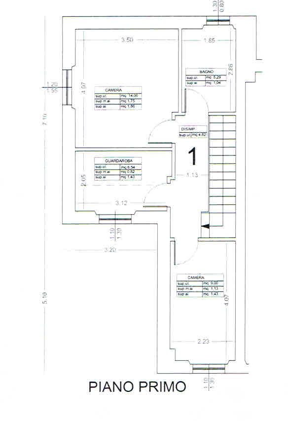 Planimetria 2/2 per rif. 2865