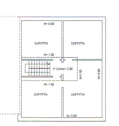 Planimetria 3/4 per rif. 2868