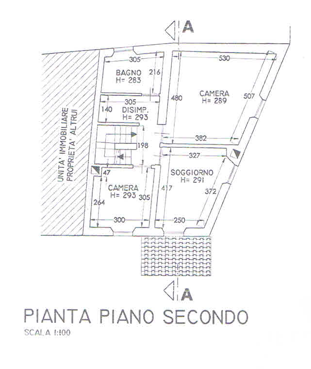 Planimetria 2/3 per rif. 2870