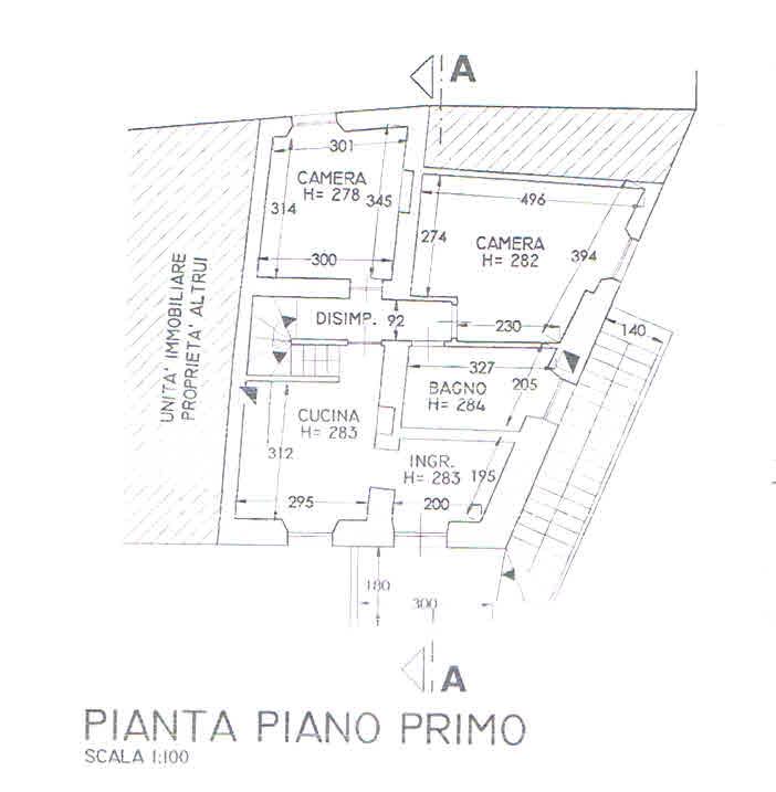 Planimetria 1/3 per rif. 2870