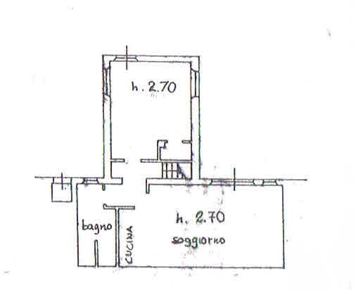 Planimetria 3/4 per rif. 2871