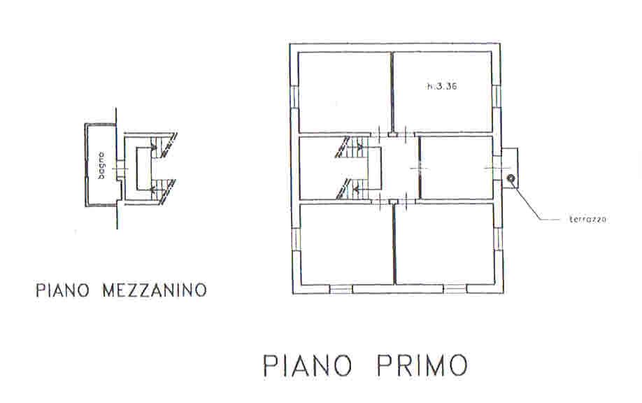 Planimetria 2/5 per rif. 2874