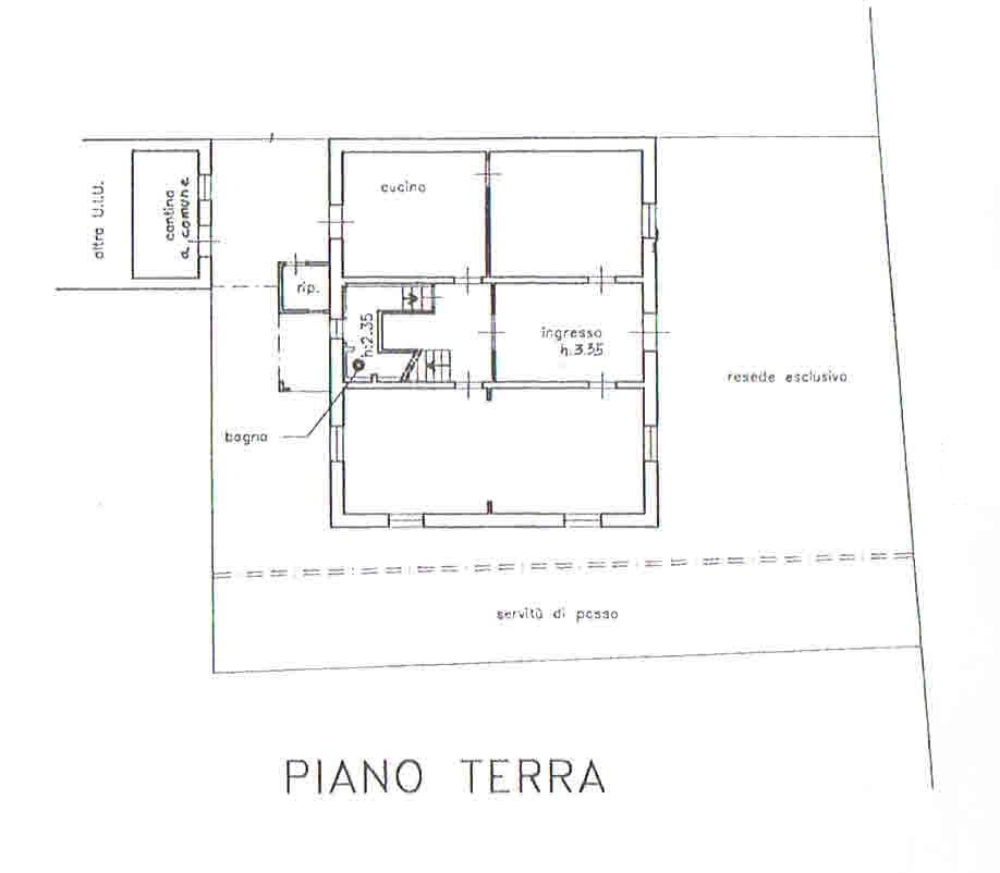 Planimetria 1/5 per rif. 2874