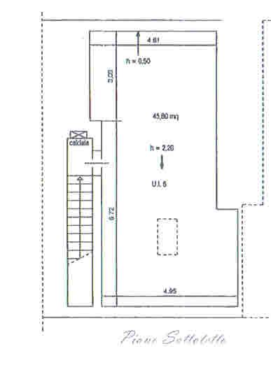 Planimetria 2/2 per rif. 2875