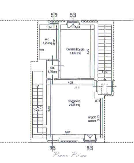 Planimetria 1/2 per rif. 2875