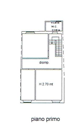 Planimetria 2/3 per rif. 2885