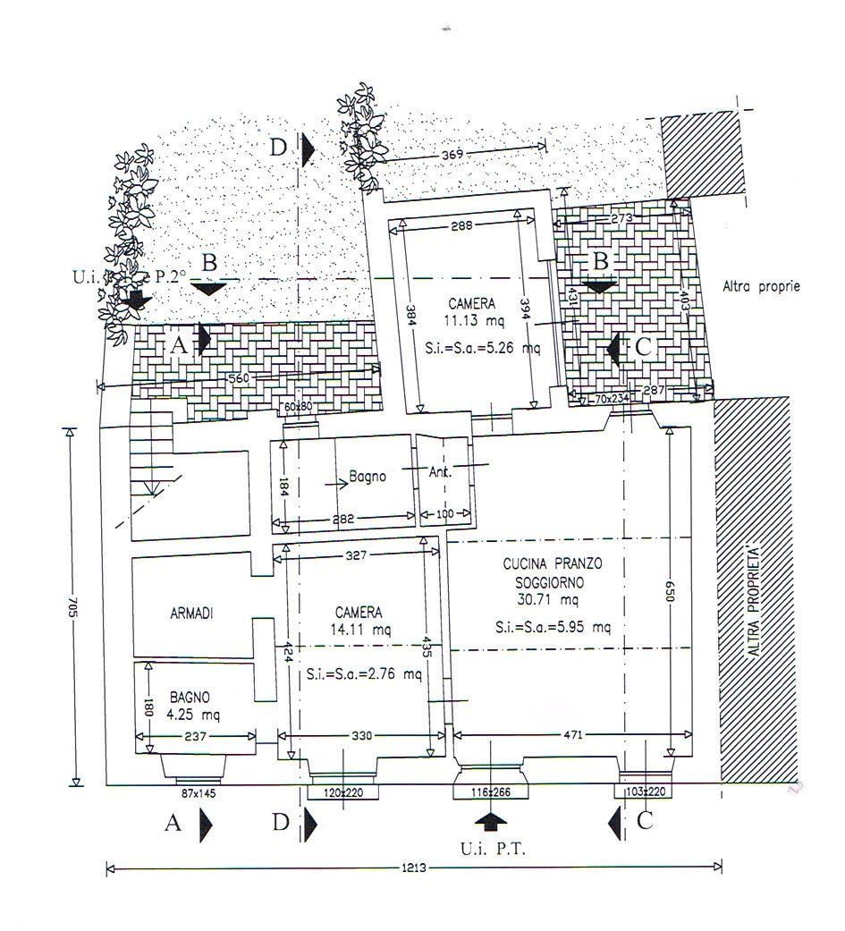 Planimetria 1/2 per rif. 2886