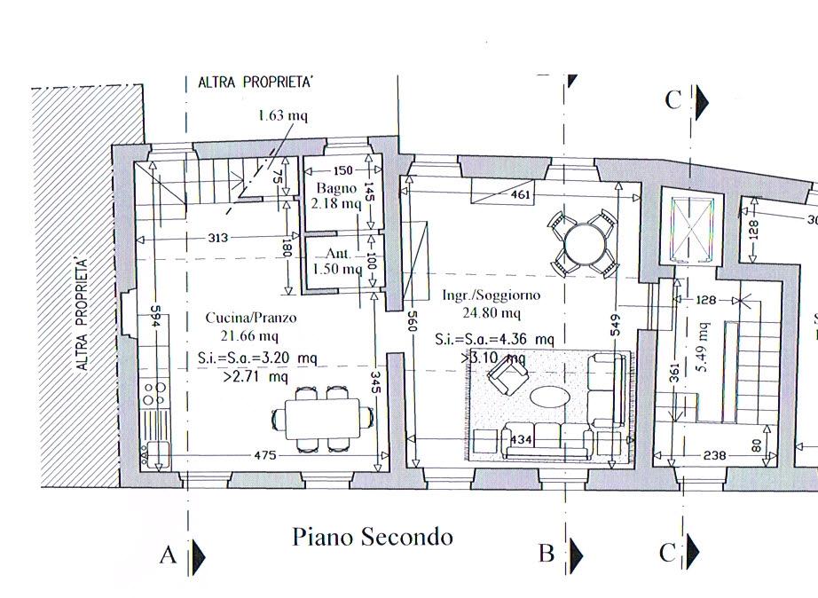 Planimetria 2/3 per rif. 2889