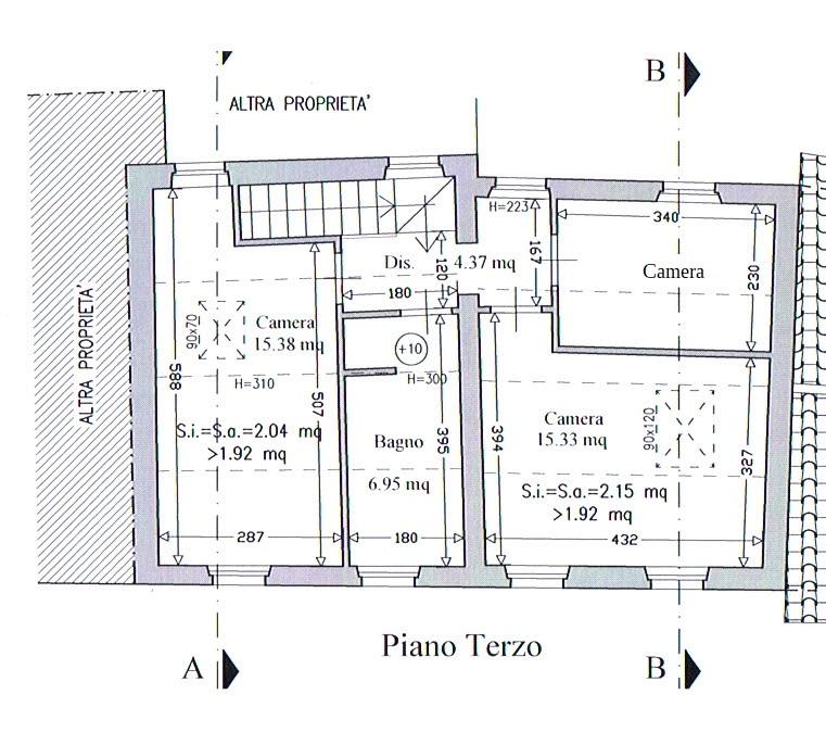 Planimetria 3/3 per rif. 2889
